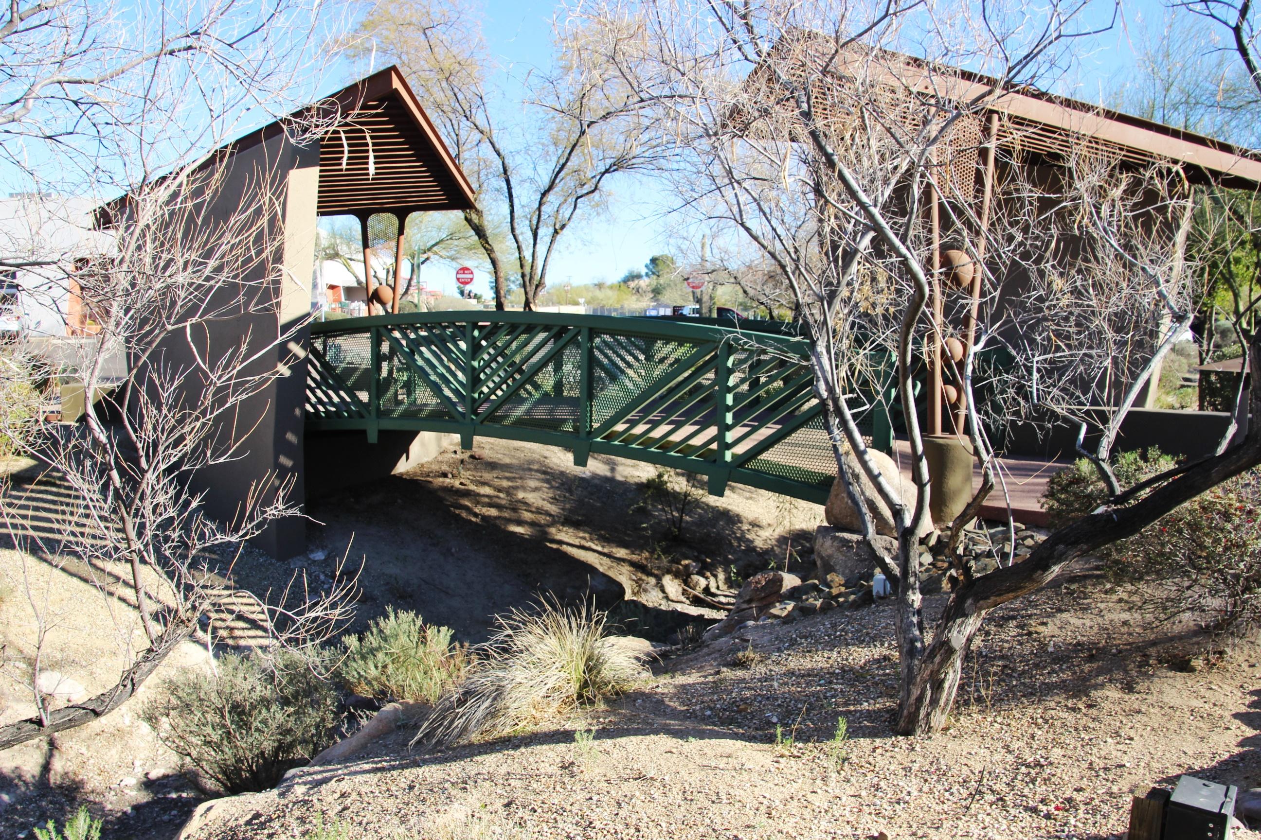 one of the bridges in the desert gardens of carefree az