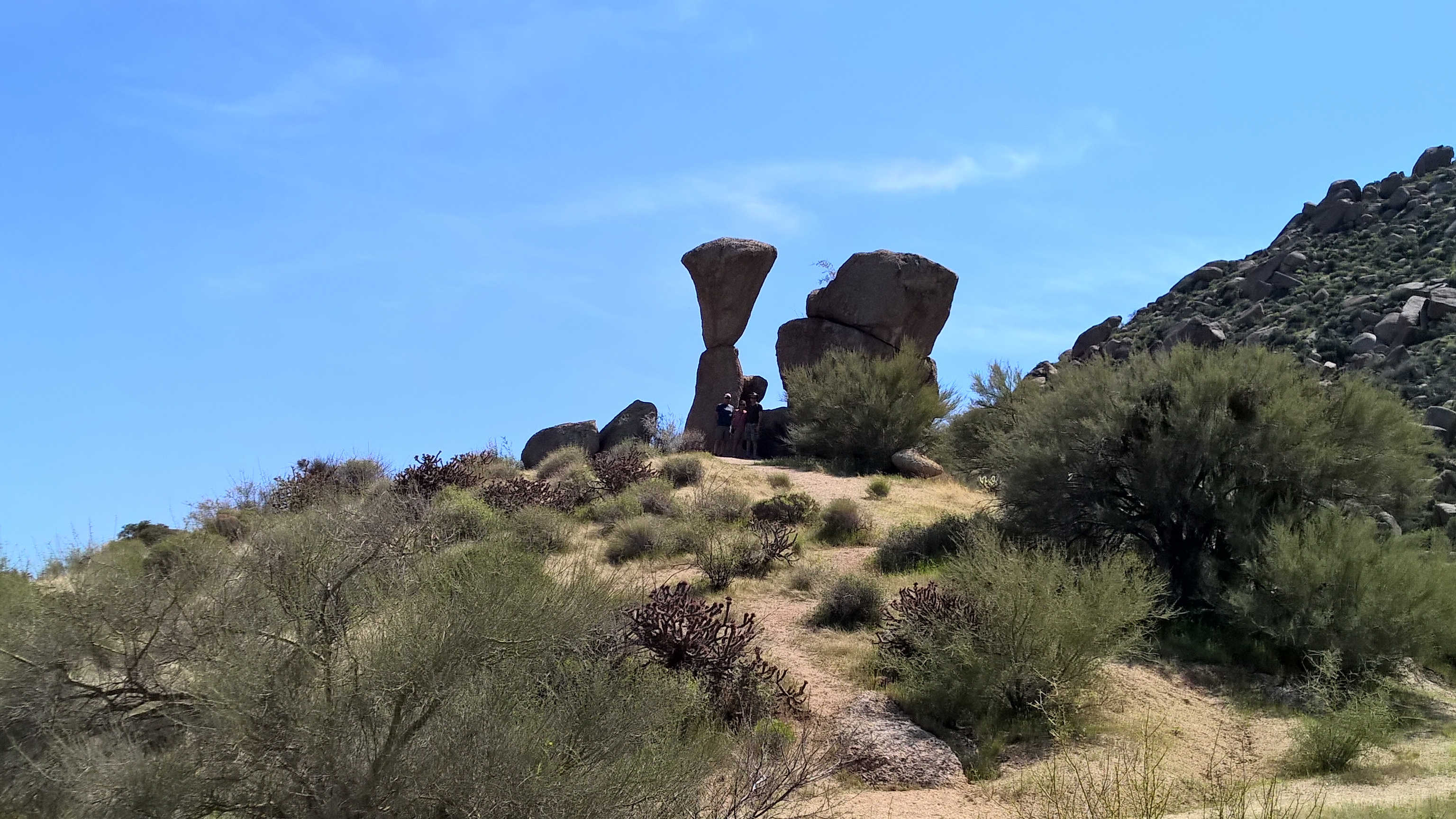 on a hike in scottsdale