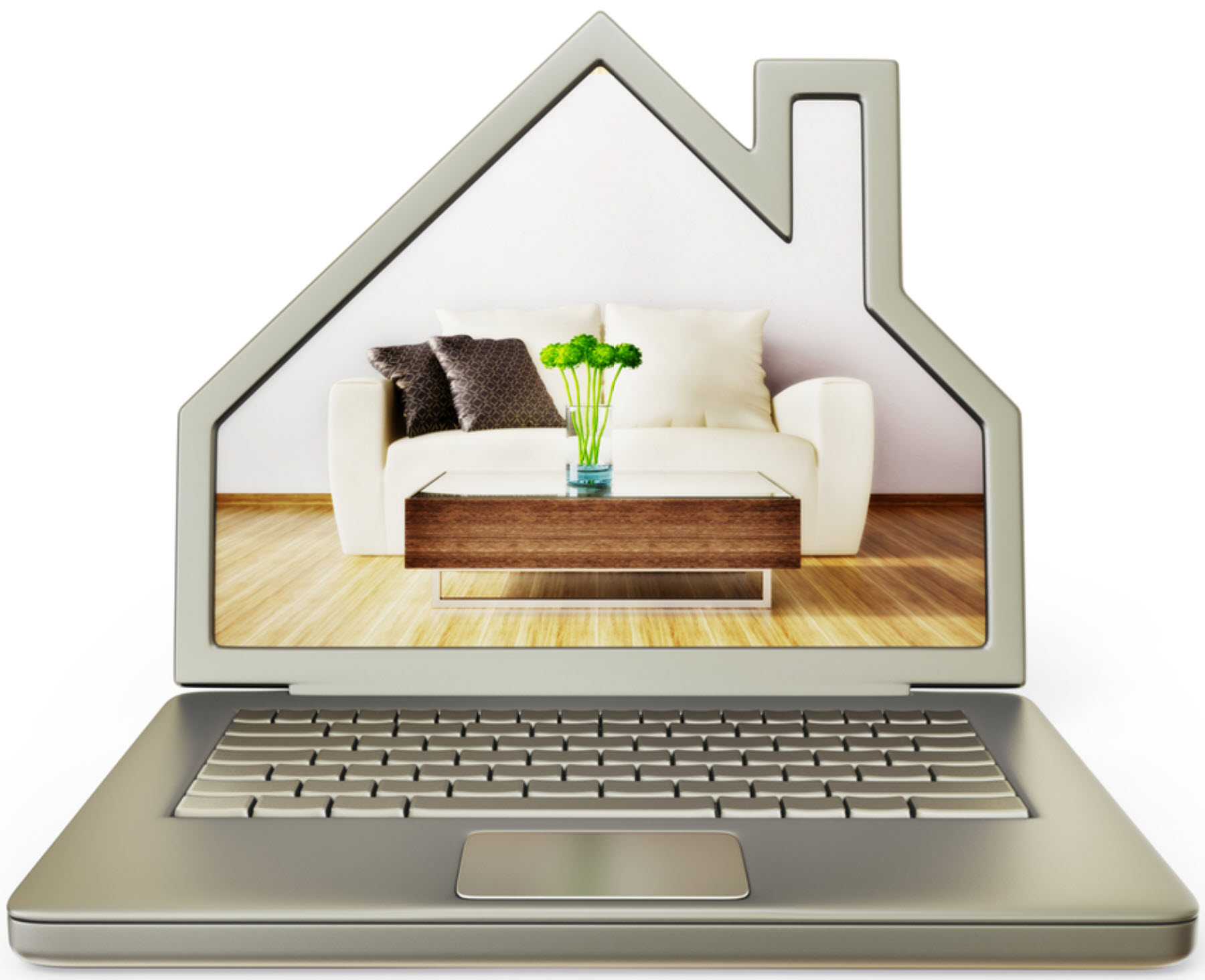 scottsdale home video tour on a laptop