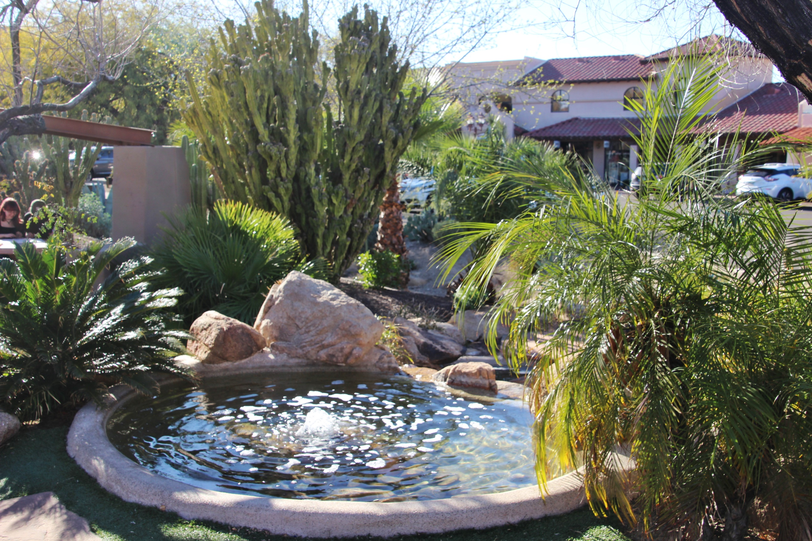 upper rock fountain at carefree arizona gardens