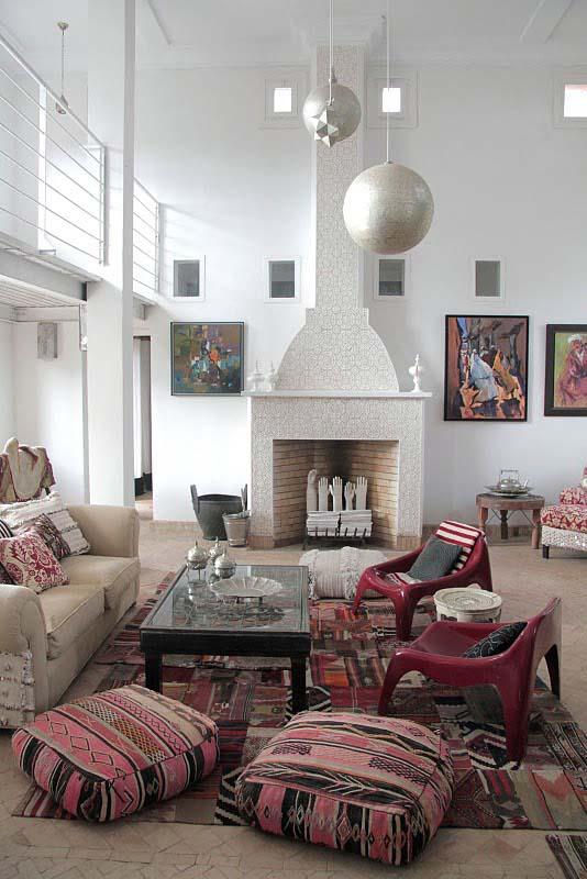 moroccan iiving room decor