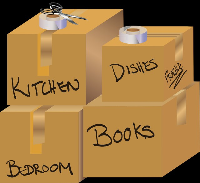 moving boxes labeled for your new scottsdale home