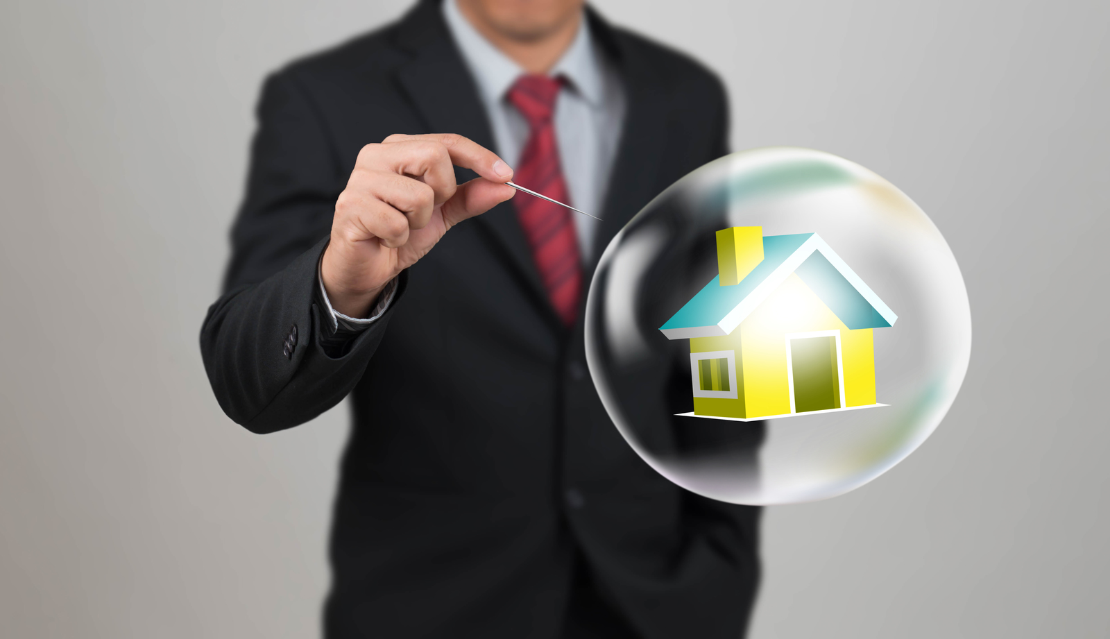 real estate bubble being burst during the great recession