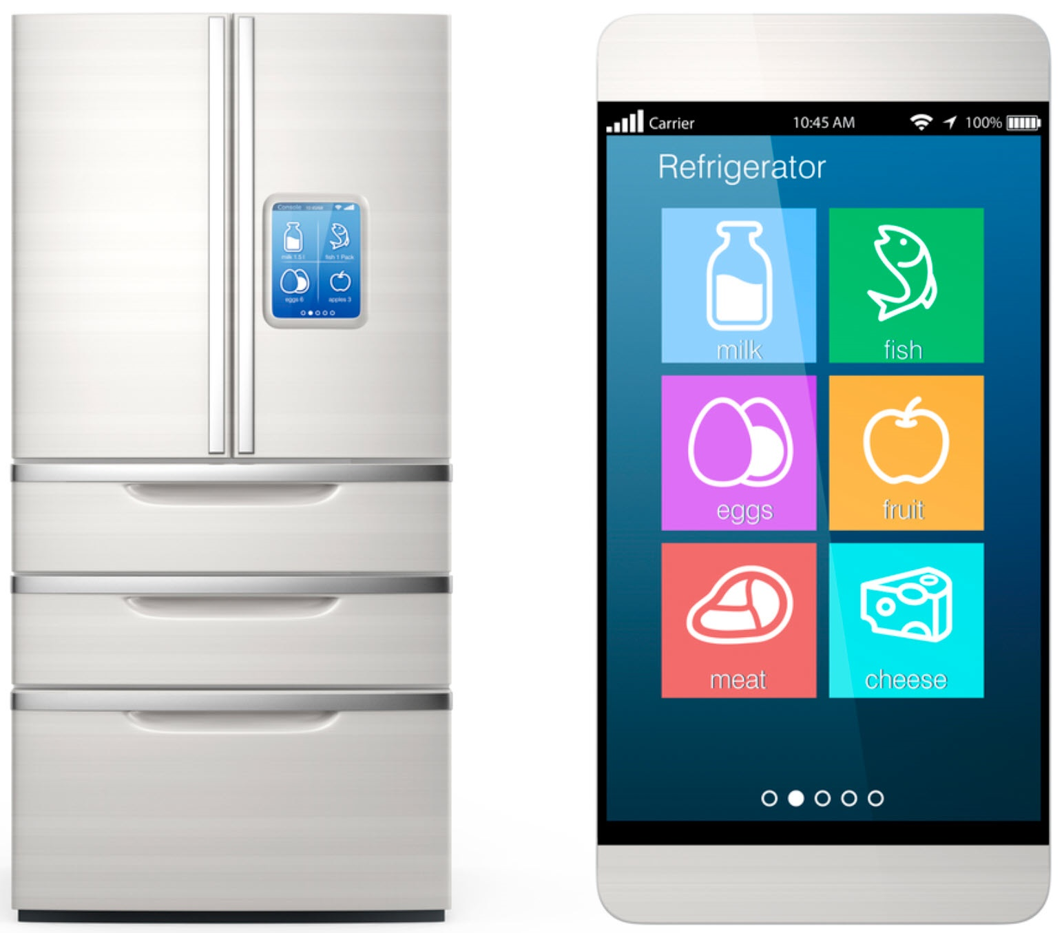 smart refrigerator in a scottsdale home