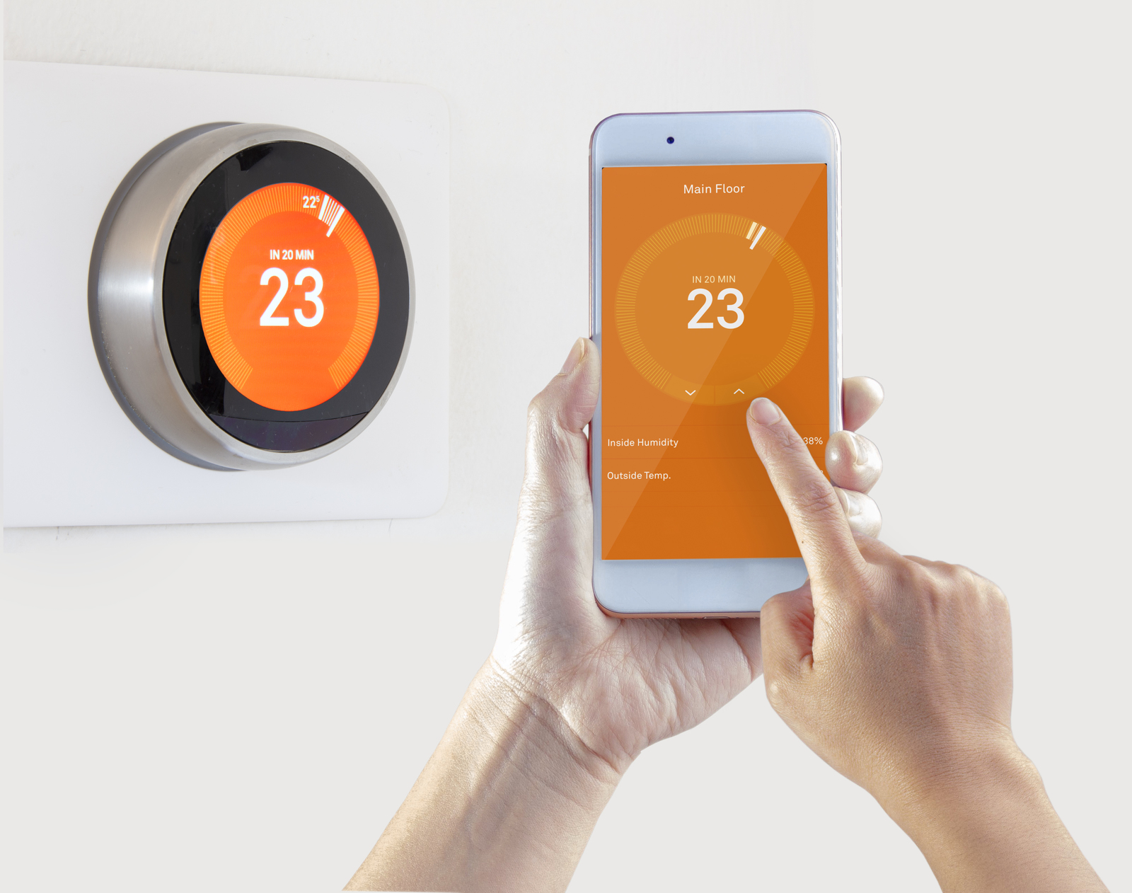 smart thermostat in a scottsdale home