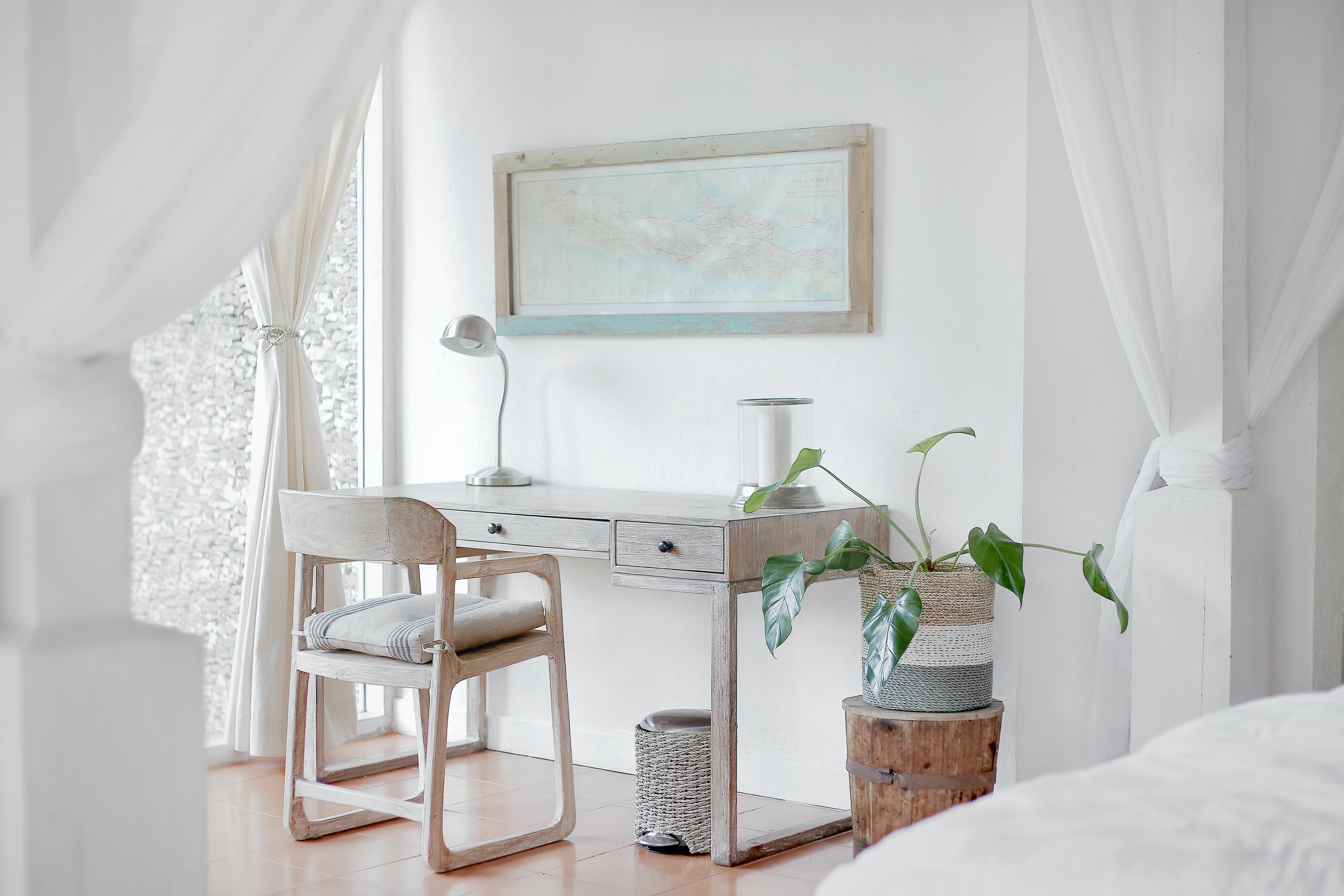 Minimalist living room white