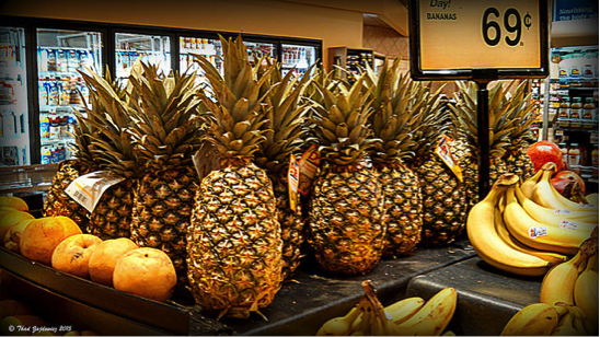 Pineapple at store