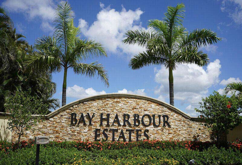 Bay Harbour Estates Neighborhood Sign in Fort Myers, Florida