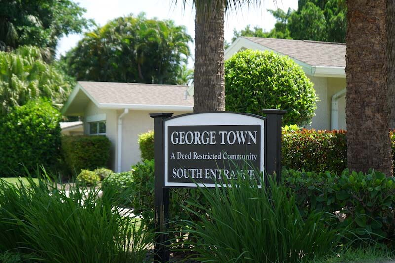 George Town Neighborhood Sign in Fort Myers, Florida