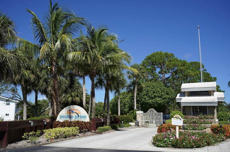 Jonathan Harbour Neighborhood Sign in Fort Myers, Florida
