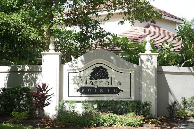 Magnolia Pointe Neighborhood Sign in Fort Myers, Florida