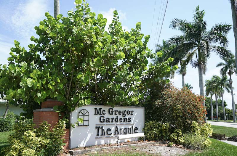 McGregor Gardens Neighborhood Signage in Fort Myer, Florida