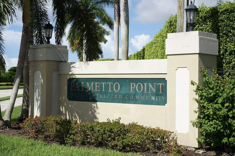 Palmetto Point Neighborhood Sign in Fort Myers, Florida