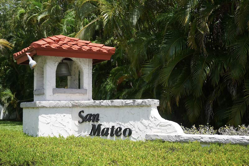 San Mateo Neighborhood Sign in Fort Myers, Florida