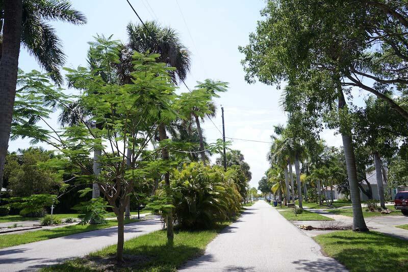 Twin Palm Estates Neighborhood Walkways in Fort Myer, Florida