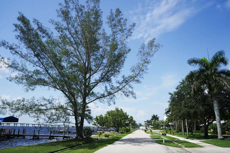 Twin Palm Estates Walkways in Fort Myer, Florida