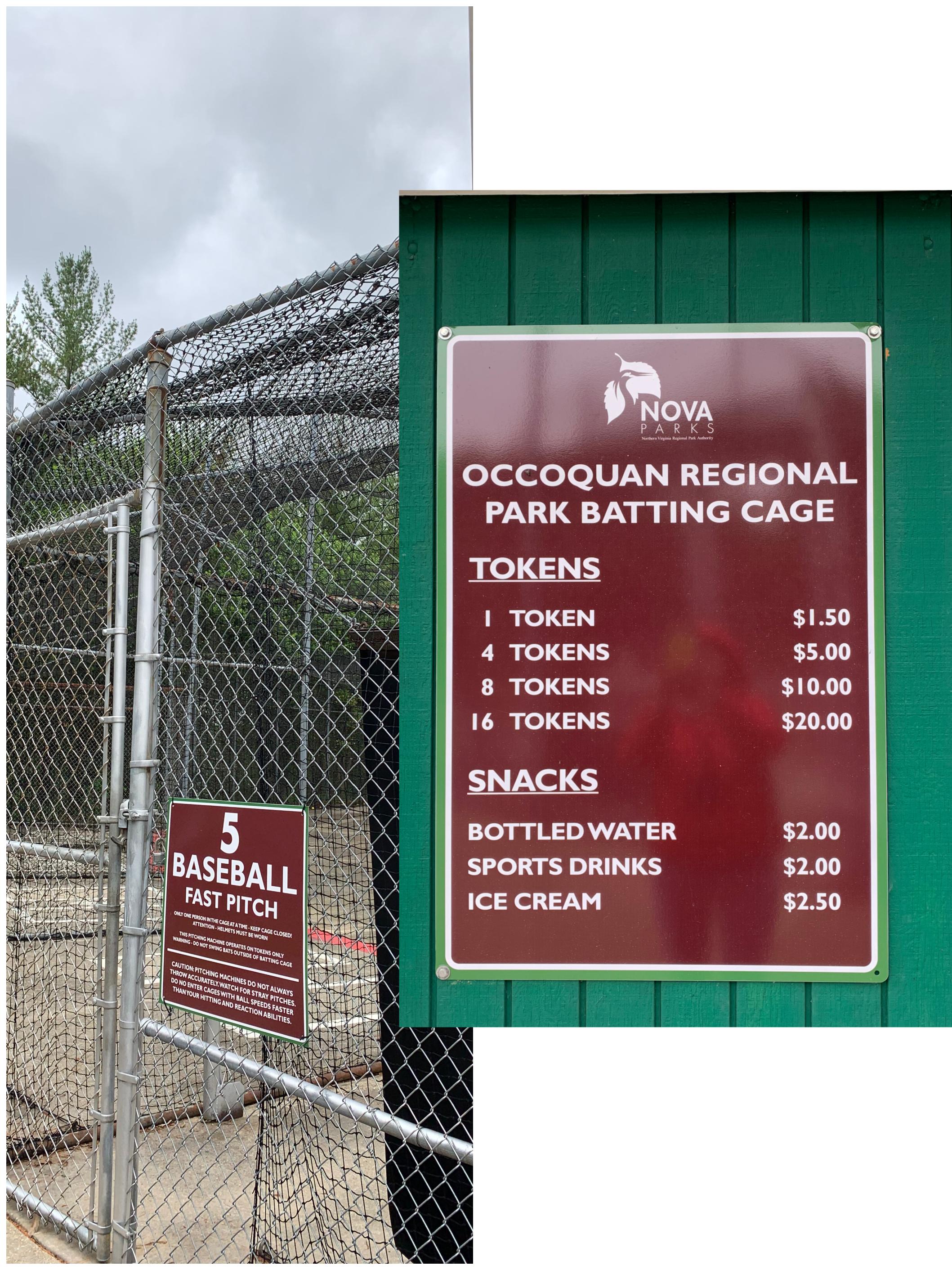 Occoquan Regional Park - baseball_softball batting cage