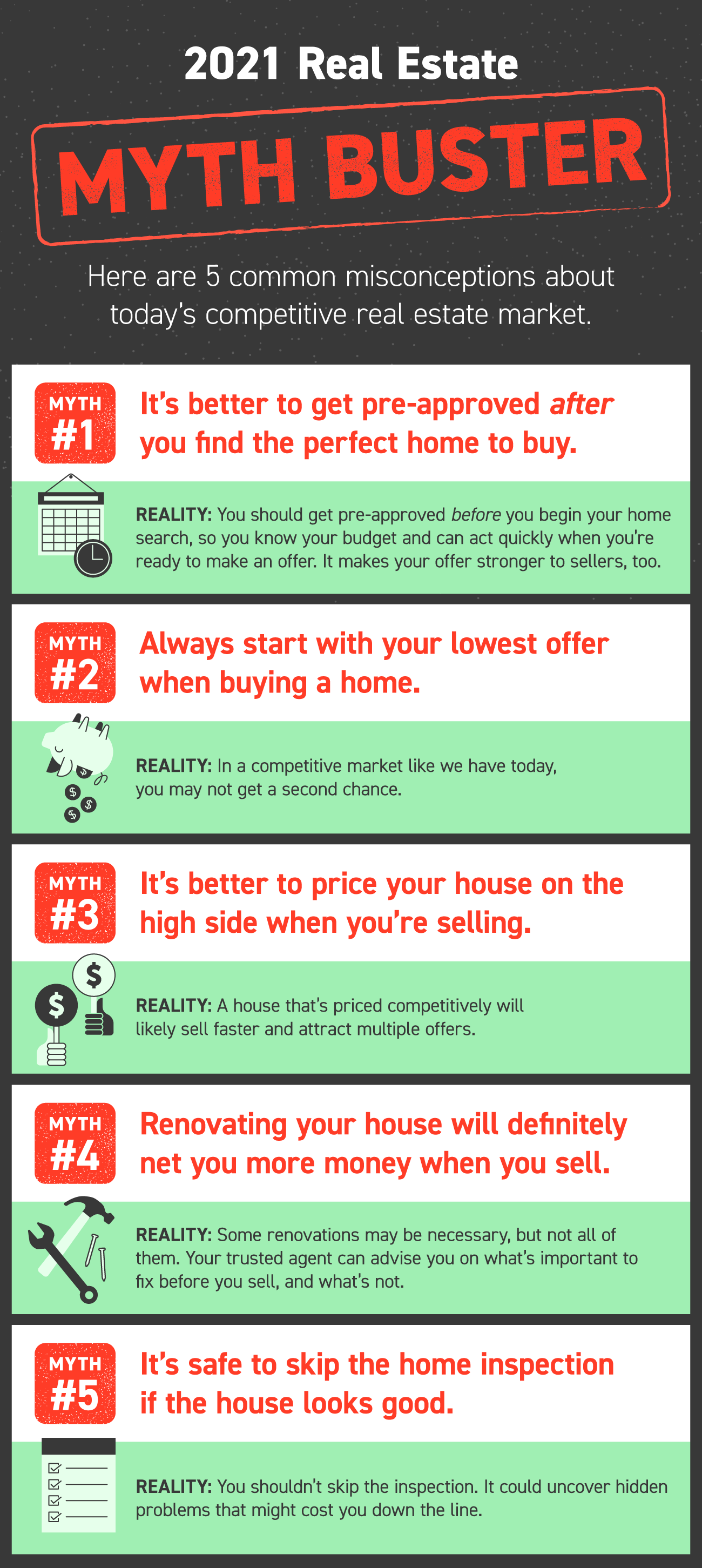 Myths about Buying a home