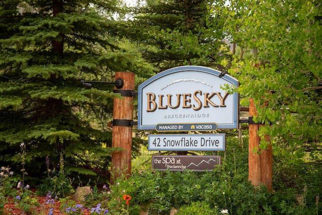 BlueSky Condo Sign in Breckenridge, Colorado
