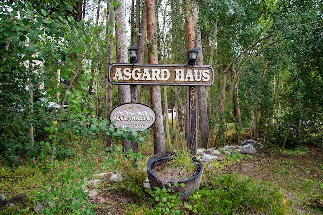 Asgard Haus, Breckenridge, Sign