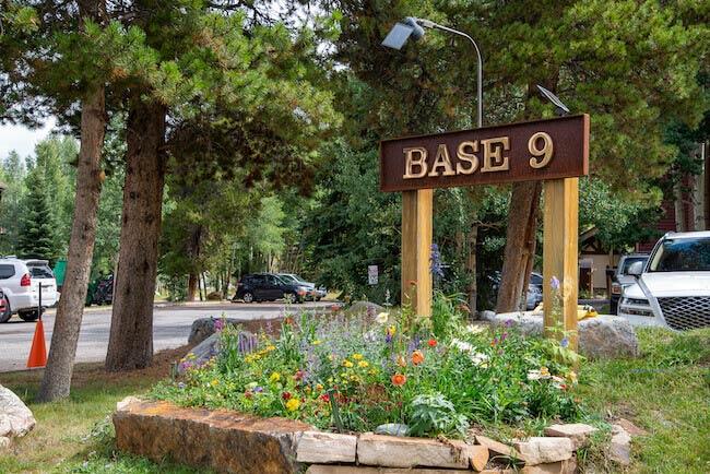 Base 9 Condos, Breckenridge, Sign