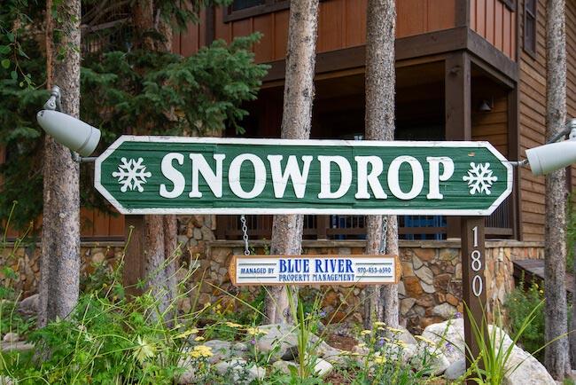 Snowdrop Condos, Breckenridge, Sign
