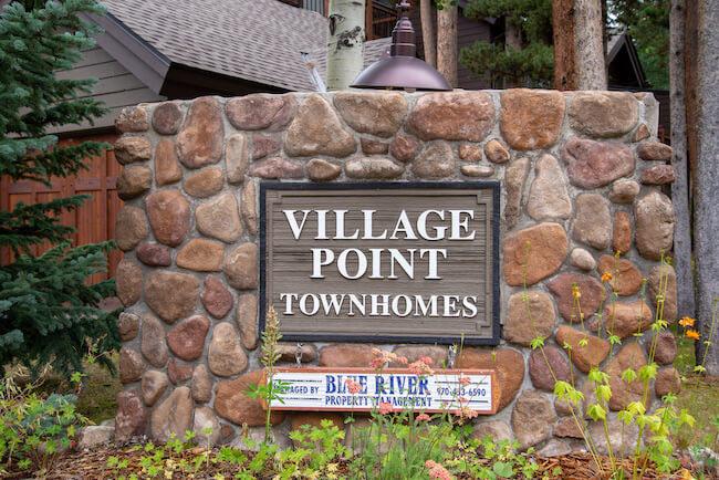 Village Point Townhomes, Breckenridge, Sign
