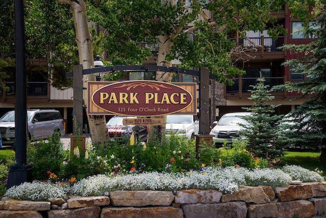 Park Place Condos Sign in Breckenridge, Colorado