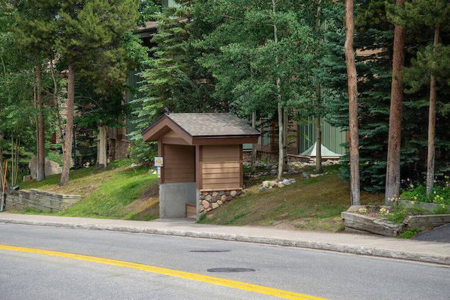 Pine Ridge Condos Bus Stop in Breckenridge, Colorado