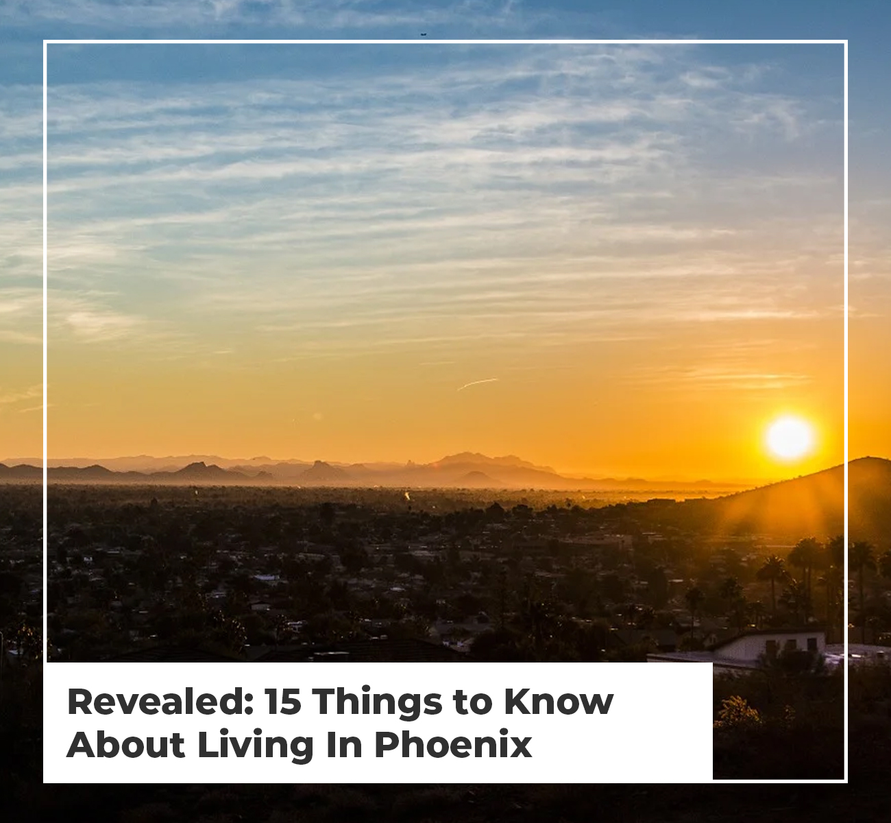 15 Things To KnowLiving in Phoenix
