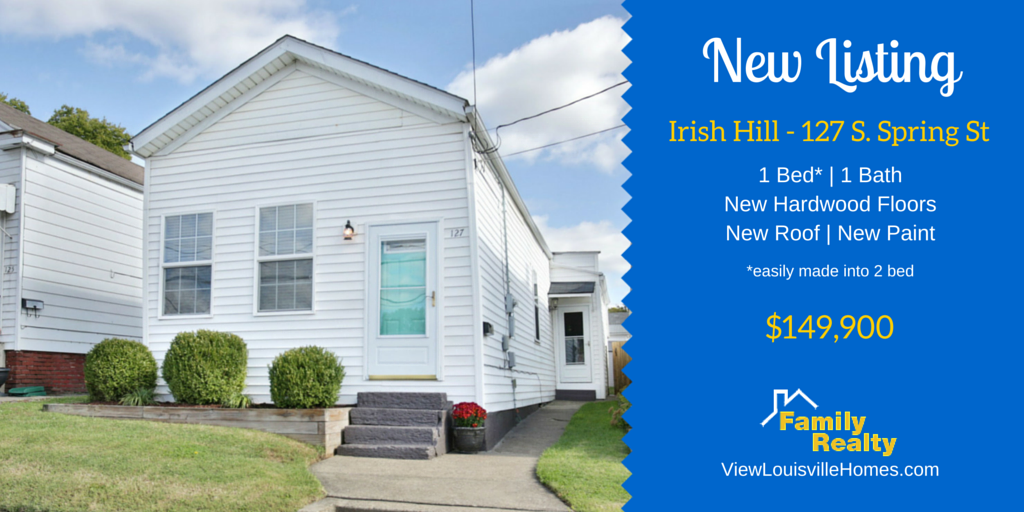 127 s spring st - irish hill - louisville ky - shotgun home for sale