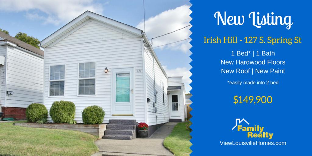 127 s spring st - irish hill - louisville ky - shotgun home for sale