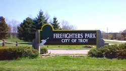 Entrance to Firefighters Park