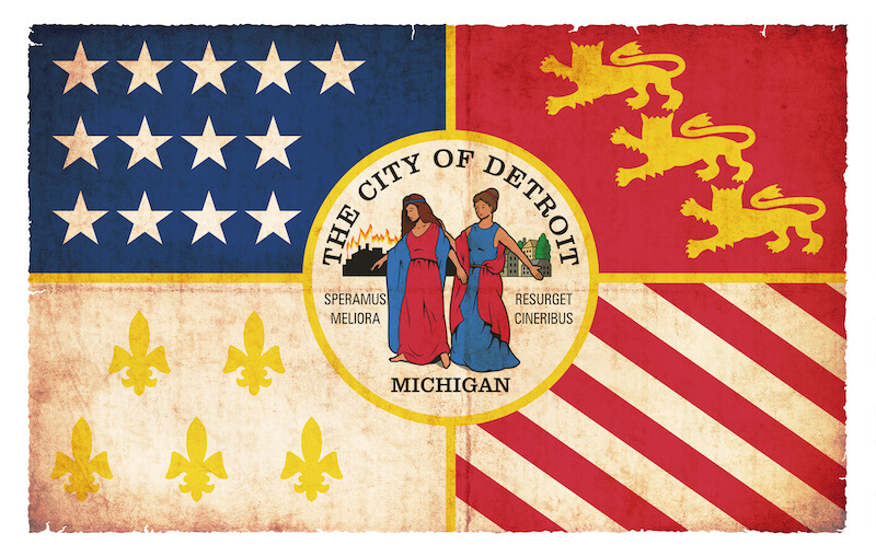 Detroit's Flag Features the Great Fire of 1805