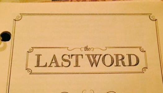 The Last Word in Ann Arbor