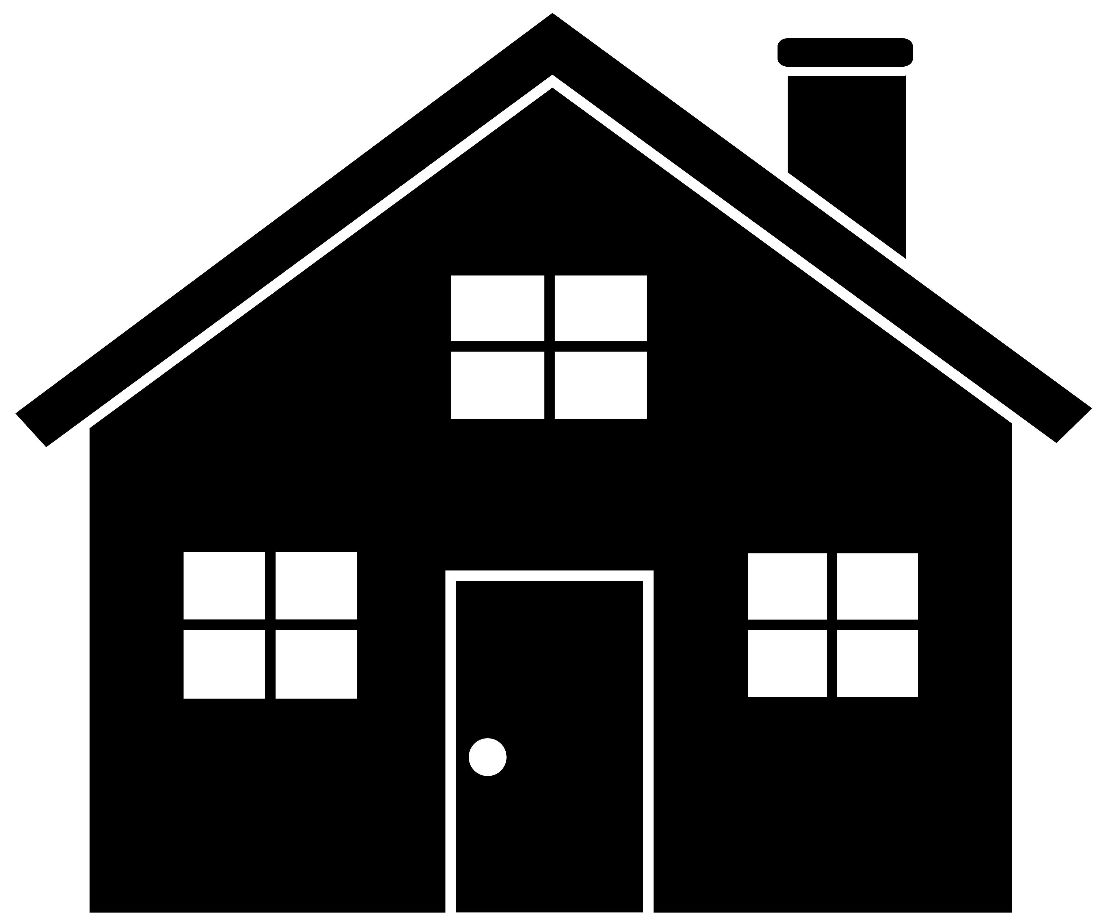 A logo of a house