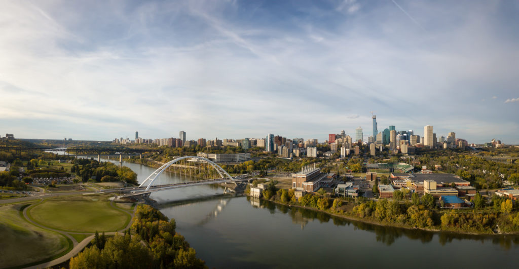 A view of the North Saskatchewan River