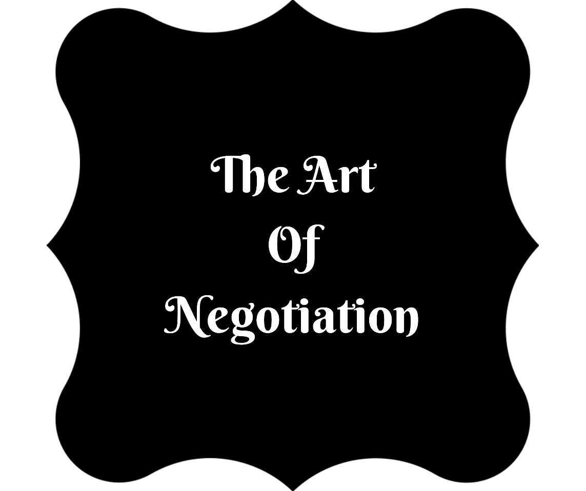 A badge with the words the art of negotiation