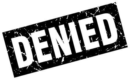 An image of a denied stamp