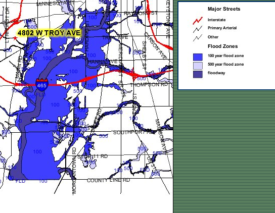 Flood Zone Map for Marion County