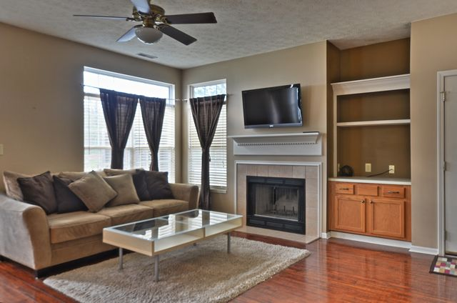 Fireplace and built-ins in Great Room