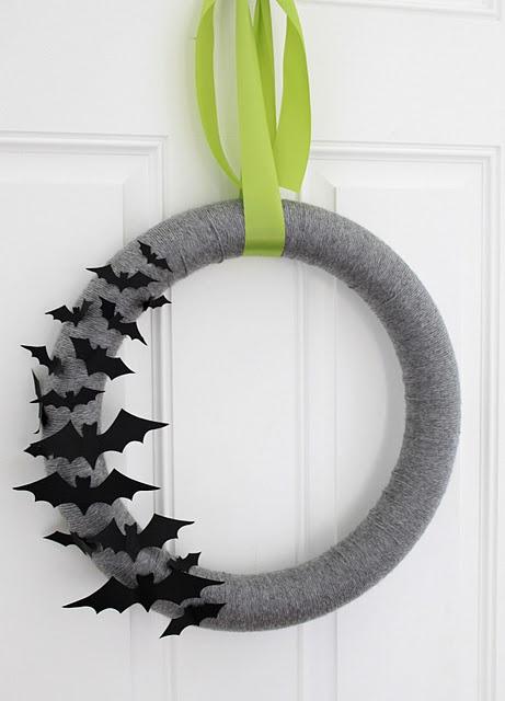 classy bat wreath