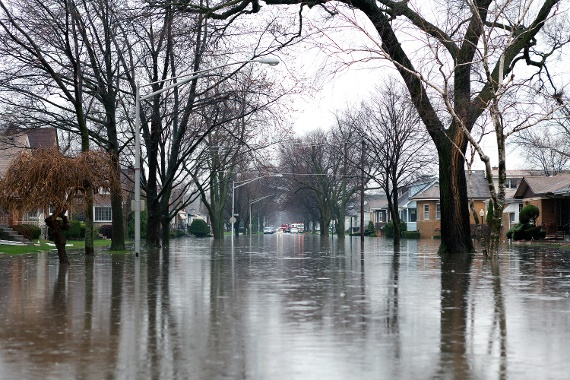 Flooded Neighborhood Indianapolis