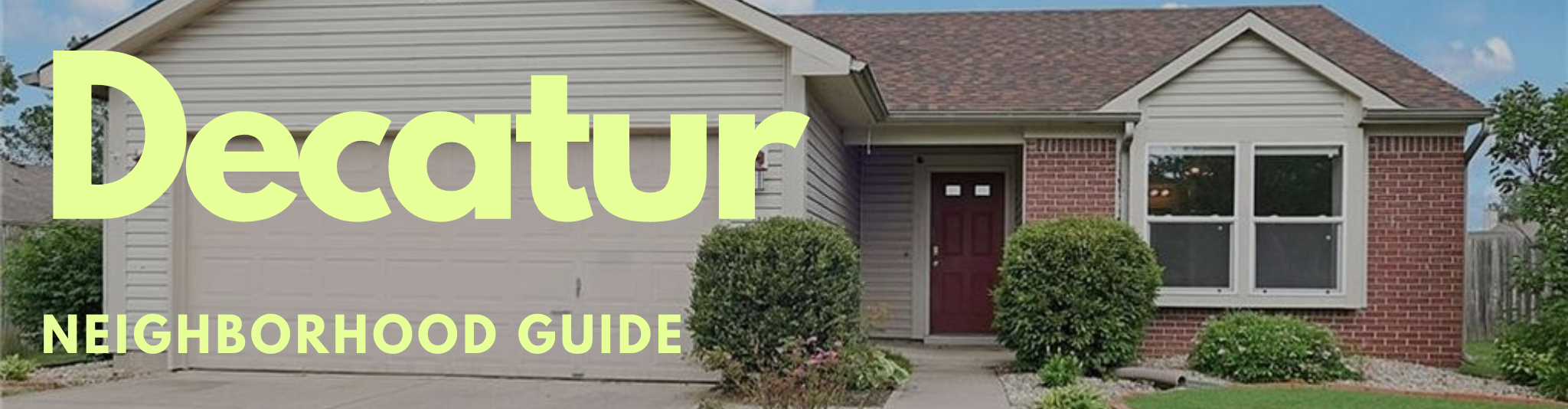 Decatur township marion county indianapolis indiana real estate guide