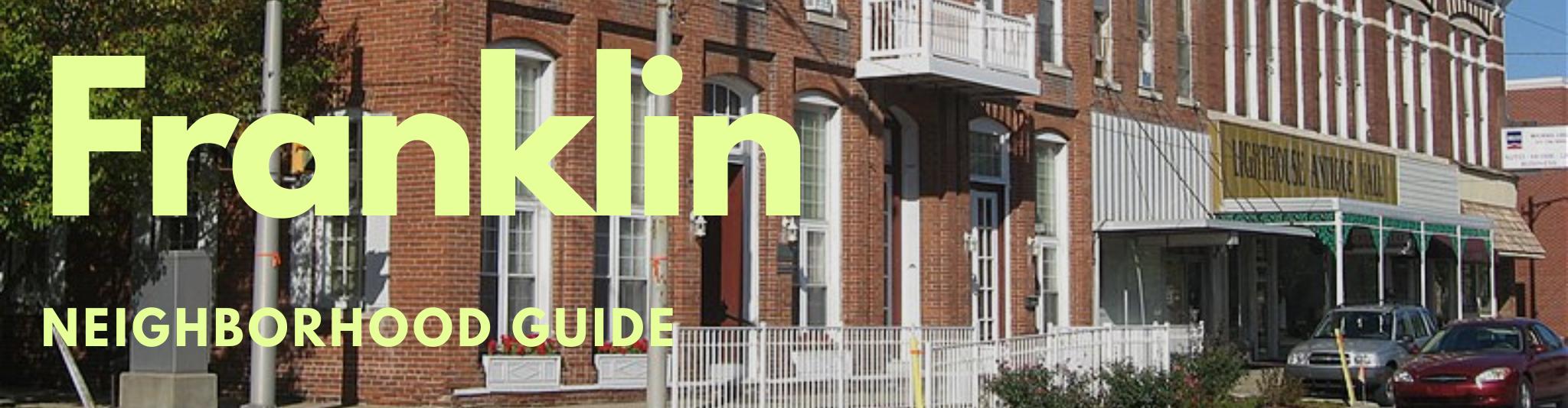 Franklin Indiana real estate neighborhood guide