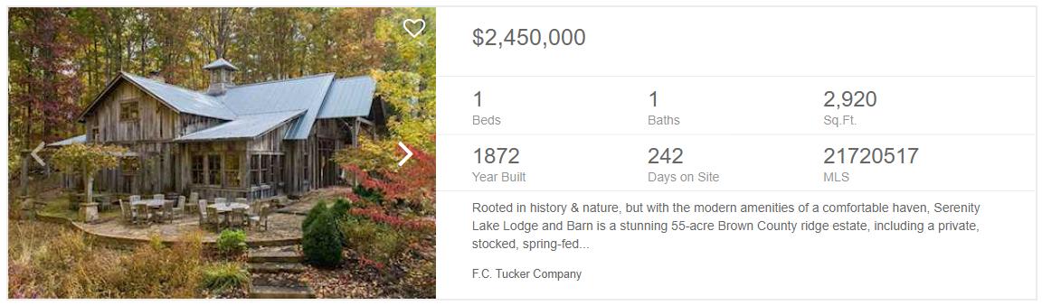 brown county million dollar barn
