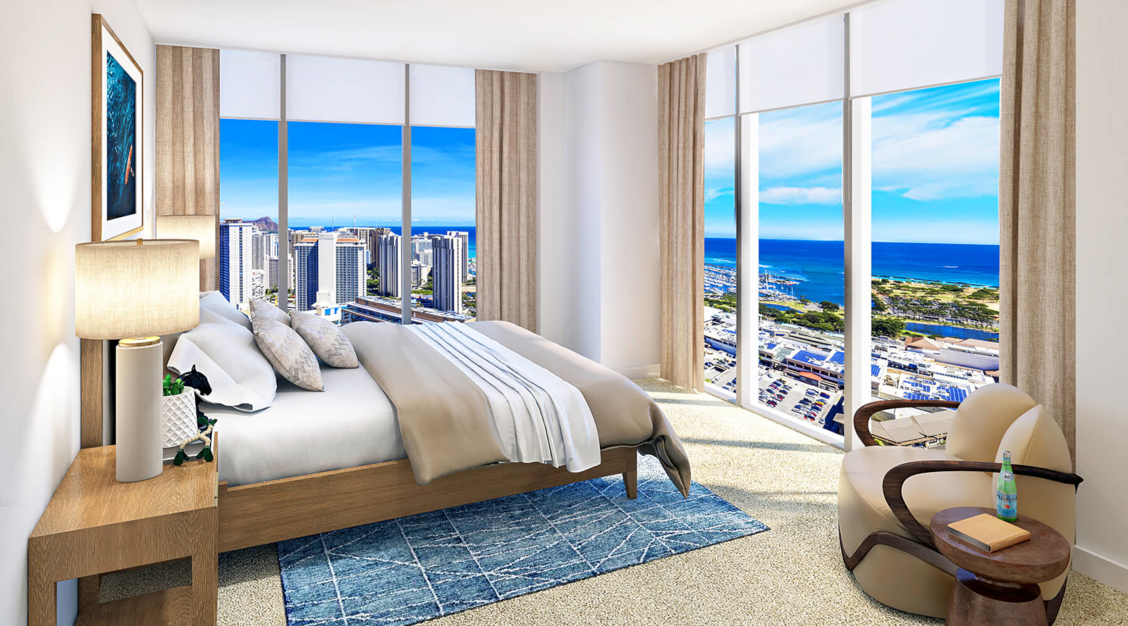 Azure Ala Moana Master Bedroom