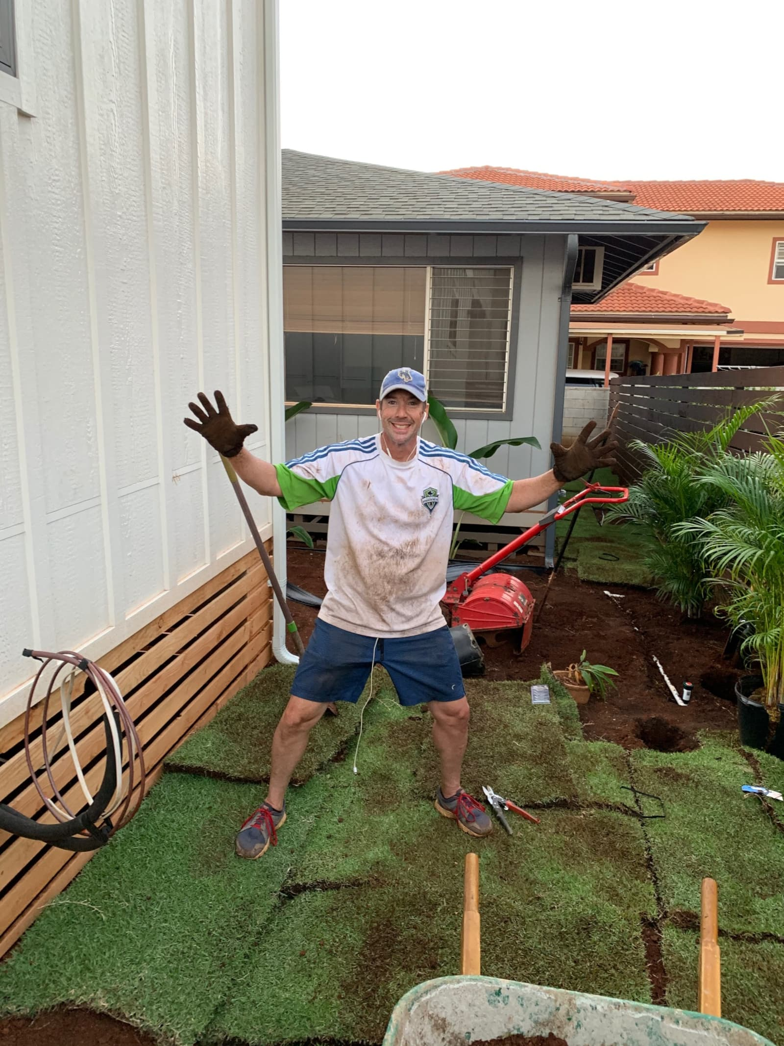 Scott Dirty From Working On Landscaping At 946 6th Avenue
