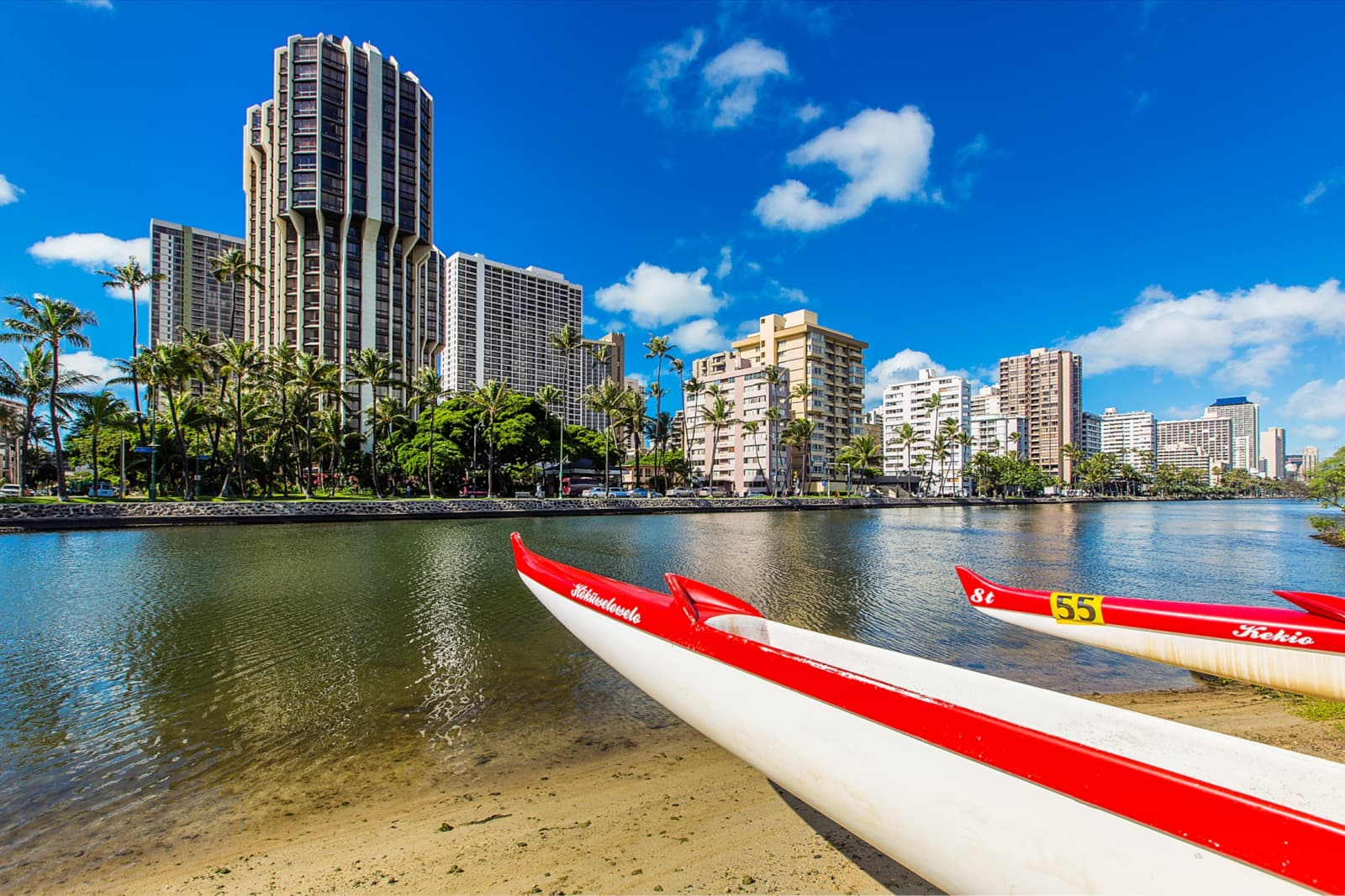 Waikiki Over Water From Shore
