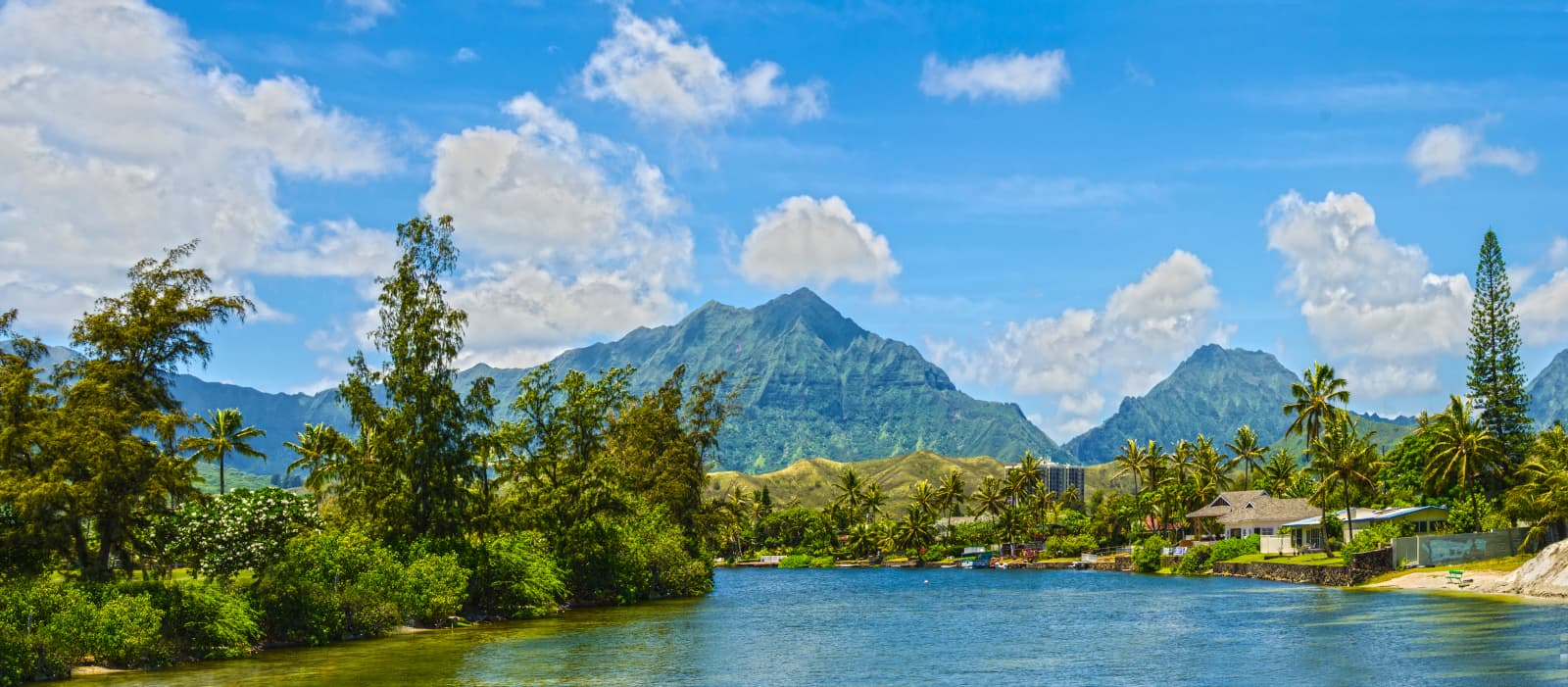 Kailua Canal In Gorgeous Weather